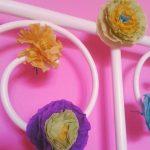 хартиени цветя за примамване на пролетта